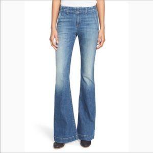 Rag & Bone High Waist Bell Bottom Trouser Jeans